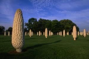 Corn Sculpture by Malcolm Cochran Dublin Ohio